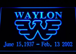 Waylon Jennings Neon Light Sign
