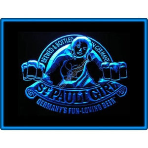 St Pauli Girl Germany Neon Sign (Light. Beer. Bar. Pub. Restaurant. LED)