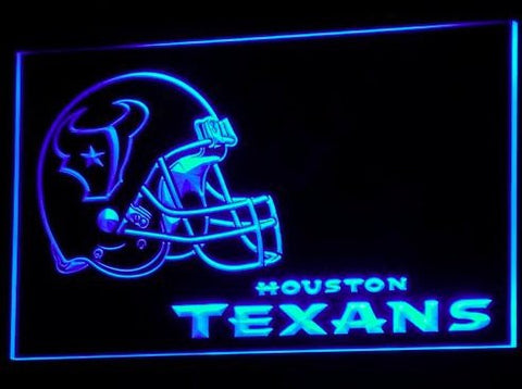 Houston Texans Helmet Neon Sign (Light. B321-r. Pub. Bar. Nr. LED)