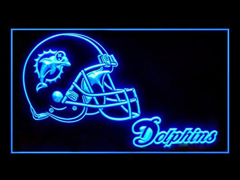Miami Dolphins Helmet Neon Sign (LED. Light)