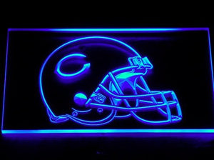 Chicago Bears Helmet Neon Sign (234-b. Light. Bar. LED)