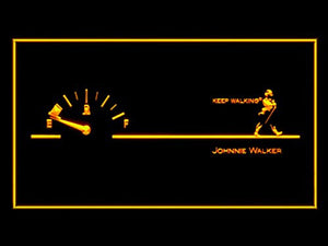 Johnnie Walker Keep Walking Fuel Neon Sign (LED. Light)