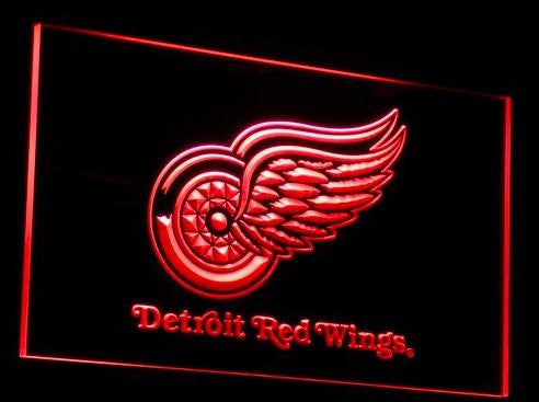 Detroit Red Wings Neon Sign (B086-r. Light. LED)
