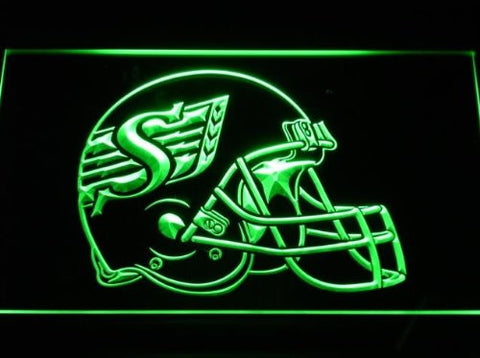 Saskatchewan Roughriders Helmet Neon Sign (Light. LED)