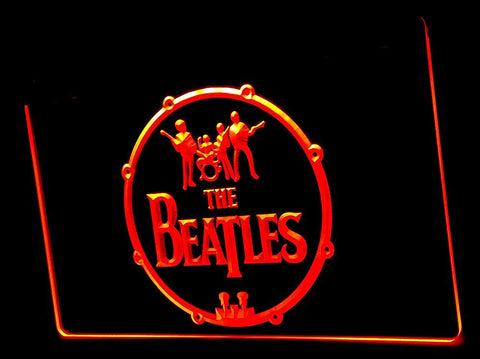 The Beatles Neon Sign (Music. Drums. Bar. Hub. Advertising. LED. Light. J386B)