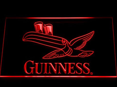 Guinness Neon Sign (Light. 012-b. Toucan. Beer. Bar. Pub. Club. LED)