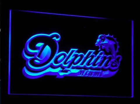 Miami Dolphins Neon Sign Bar (Footbal. LED. Light. B070-b)