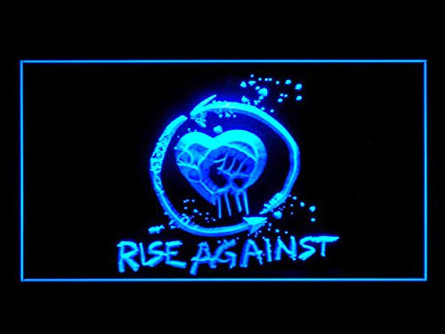 Rise Against Neon Sign (P153B. Hub. Bar. Advertising. LED. Light)