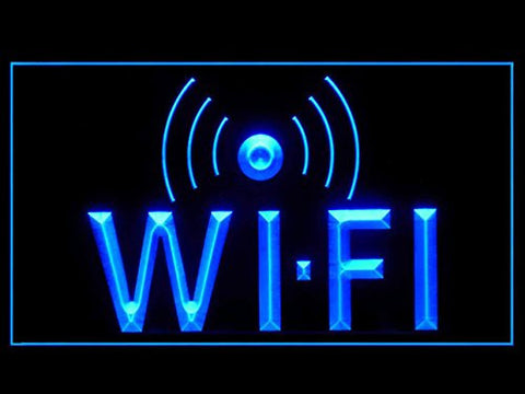 Wi-Fi Neon Sign (Internet. Access. Cafe. Display. LED. Light)
