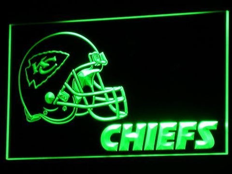 b324 Kansas City Chiefs Helmet NR Bar LED Neon Sign with On/Off Switch 7 Colo...