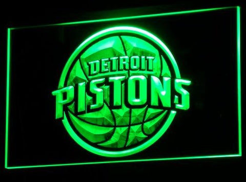 Detroit Pistons Neon Sign (Light. B008-r. Bar. Sports. NBA. LED)