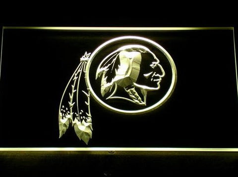 Washington Redskins Neon Sign (Logo. Bar. Pub. Light. 154-y. LED)
