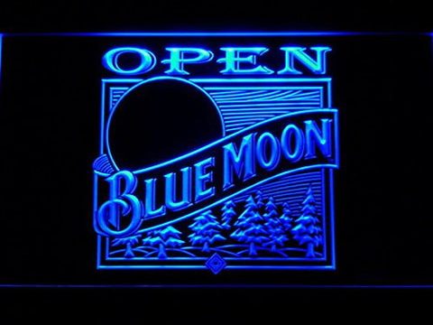 Blue Moon OPEN Neon Sign (Light. Beer. Bar. Man Cave. 085-B. LED)