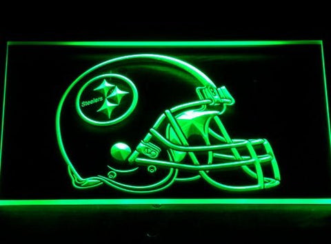 Pittsburgh Steelers Helmet Neon Sign (Bar. Light. 252-r. LED)
