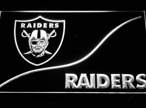 Oakland Raiders Neon Sign (Light. B510-b. LED. NFL)