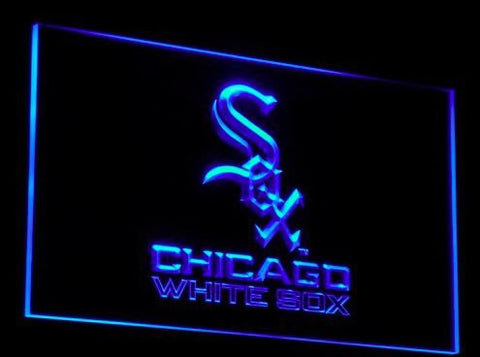 Chicago White Sox Neon Sign (Bar. Club. Light. B114-b. LED. MLB)