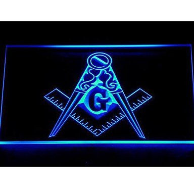 Mason Emblem Neon Sign (Light. Masonic. Freemason. LED)