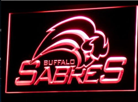 Buffalo Sabres Neon Sign (Light. Bar. LED)