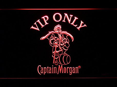 VIP Only Captain Morgan Neon Sign (Light. LED. Man Cave. 465 R)
