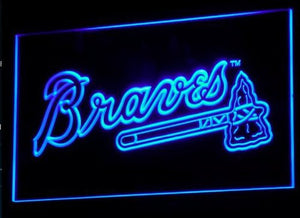 Atlanta Braves Neon Sign (B130-r. Light. Baseball. Bar. MLB. LED)