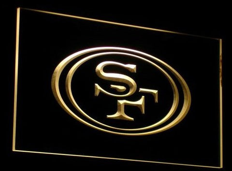 San Francisco 49ers Neon Sign (B057-r. Light. Football. LED)