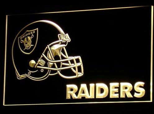 Oakland Raiders Helmet Neon Sign (B331-b. Light. Bar. Nr. LED)