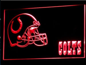 Indianapolis Colts Helmet Neon Sign (LED. Nr. Light. B322-b)