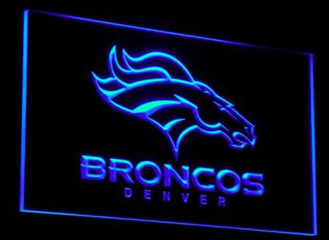 Denver Broncos Neon Sign (Light. Bar. Pub. Logo. LED)
