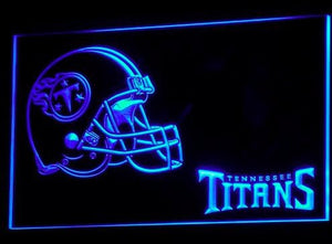 Tennessee Titans Helmet Neon Sign (Light. B339-b. Pub. Bar. LED)