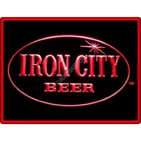 Iron City Beer Neon Sign (Bar. Pub. Restaurant. Light. LED)