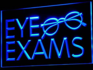 Eye Exams Glasses Optical Shop Neon Light Sign