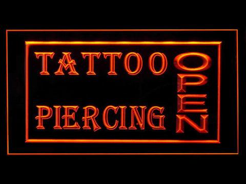 Tattoo & Piercing Open Shop Led Light Sign