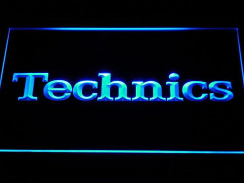 Technics Neon Sign (Light. Turntables. DJ. Music. LED. Man Cave. K149-B)