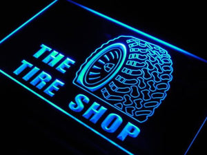 BuW Tire Shop Car Auto Repair Beer Neon Light Sign. blinking led lights kids ...
