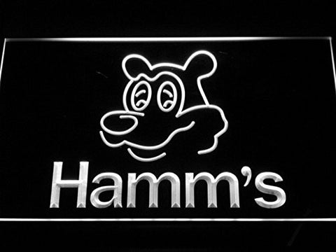 NL059 Hamm's Beer Bear Head Bar NEW Neon Light Signs (white)