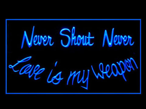 Never Shout Never Rock Music Band Pub Bar Advertising LED Light Sign Y101B