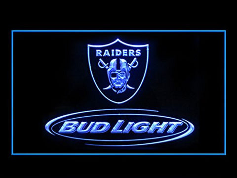 Bud Light Oakland Raiders Neon Sign (Display. LED. Light)