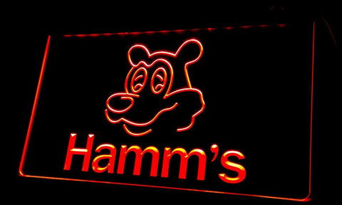 Hamm's Neon Signs (Light. NL059. Beer. Bear Head. Bar)