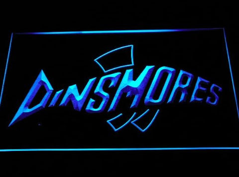 Dinsmores Fishing Neon Sign (Light. Logo. D254-b. LED)