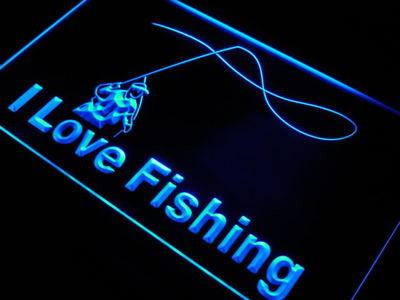 I Love Fishing Neon Sign (LED. Fish. Sport. Bar. Light)
