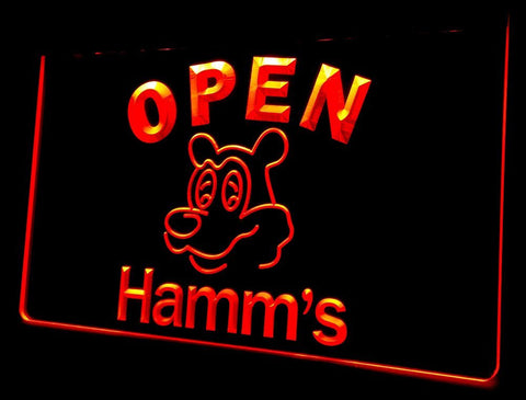 NL251 Hamm's Beer OPEN Bar Neon Light Signs (red)