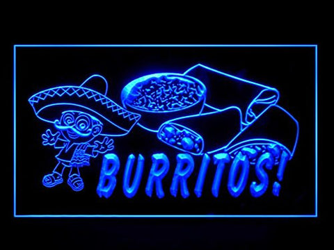 Mexican Burritos Food Restaurant Cuisine New Led Light Sign
