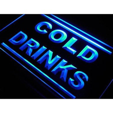 BuW Cold Drinks Cafe Beer Pub Club Neon Light Sign. lighting direct star nigh...