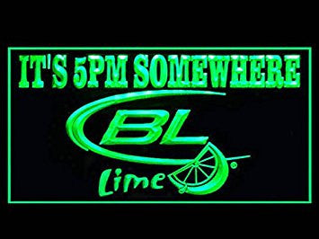 Bud Light Lime Beer It's 5 PM Somewhere Neon Sign (Drink. LED. Light)