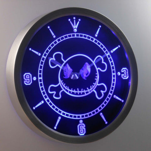 Nightmare Before Christmas Jack 3D Neon Sign LED Wall Clock NC0215-B
