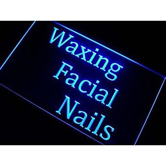 Waxing Facial Nails Neon Sign (Beauty Salon. Light. LED)