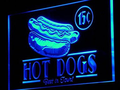 C B Signs Vintage Hot Dogs LED Sign Neon Light Sign Display
