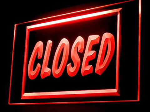 Closed Shop Store Restaurant Led Light Sign