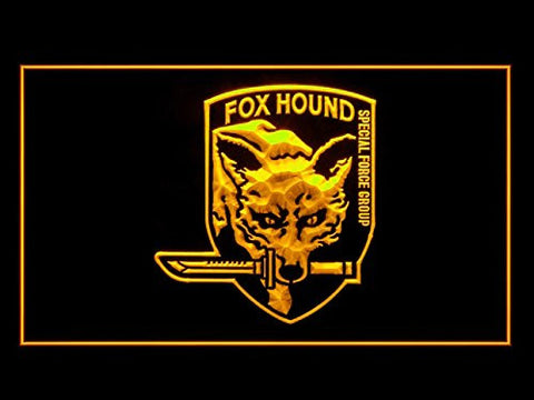 Metal Gear Solid Fox Hound Special Force Group Neon Sign (LED. Light)