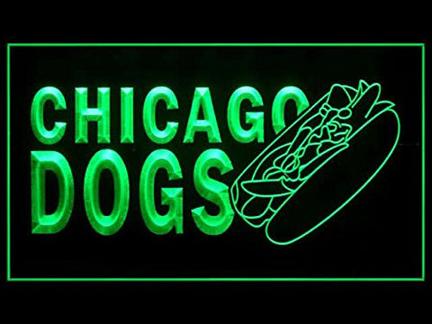 C B Signs Hot Dogs Chicago Dogs LED Sign Neon Light Sign Display
